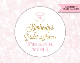 Bridal shower stickers - Bridal shower labels - Bridal shower favor stickers - Bridal shower favors (RW042)