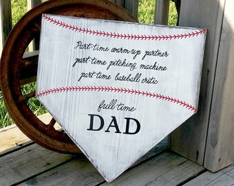 Large Blank Home Plate Sign Baseball Wall Decor Do It