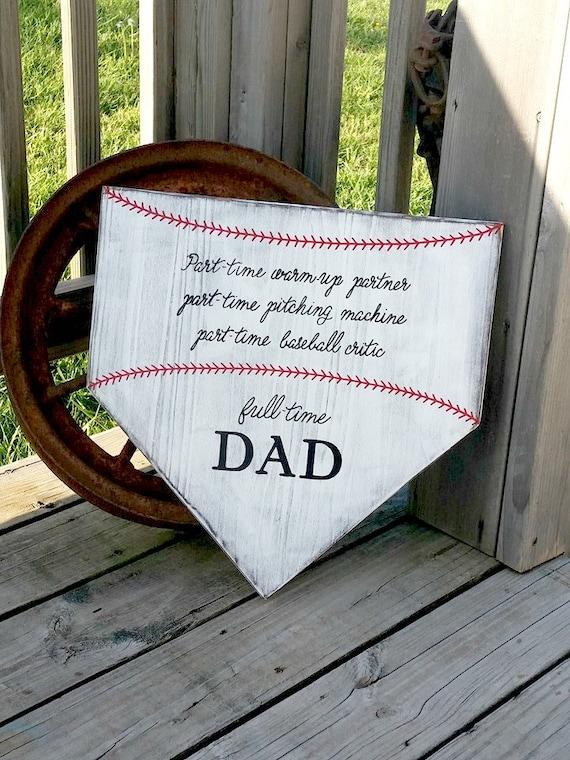 Baseball Sign Homeplate Sign Baseball Dad Gift Home Plate Wall Sign Sports