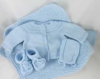 Blue Baby Sweater Set