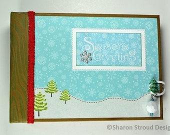 Seasons Greetings 5x7 Mini Scrapbook Album