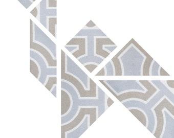 DIY tangram wallpaper animal Mees