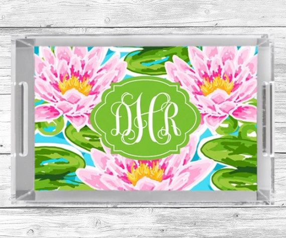 personalized acrylic tray monogram serving tray lucite in