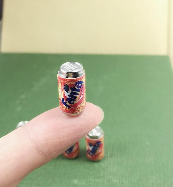 Miniature Fanta Can 5pcs.,Miniature Cans, Dolls and Miniature,Miniature Beverage ,Miniature drink,Dolls house Food,Miniature Food,Coke can