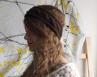 Cabled Crochet Headband
