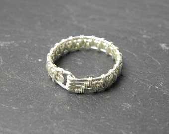 Artis, Woven Ring in Sterling Silver.