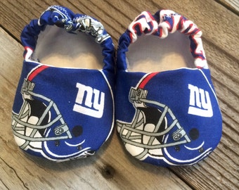New York giants baby booties, New York giants baby shoes