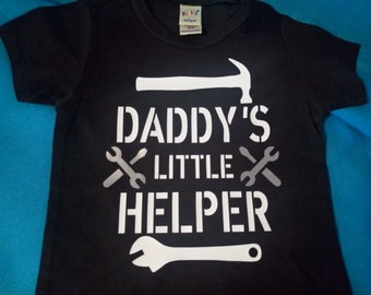 Daddy's Little Helper Infant's/Kid's Shirt or Bodysuit - Father's Day, Daddy's Garage Buddy, Mechanic Dad, Garage Helper Shirt, Kid's Shirt