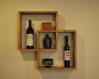 Square Floating Wall Shelf - Style 3
