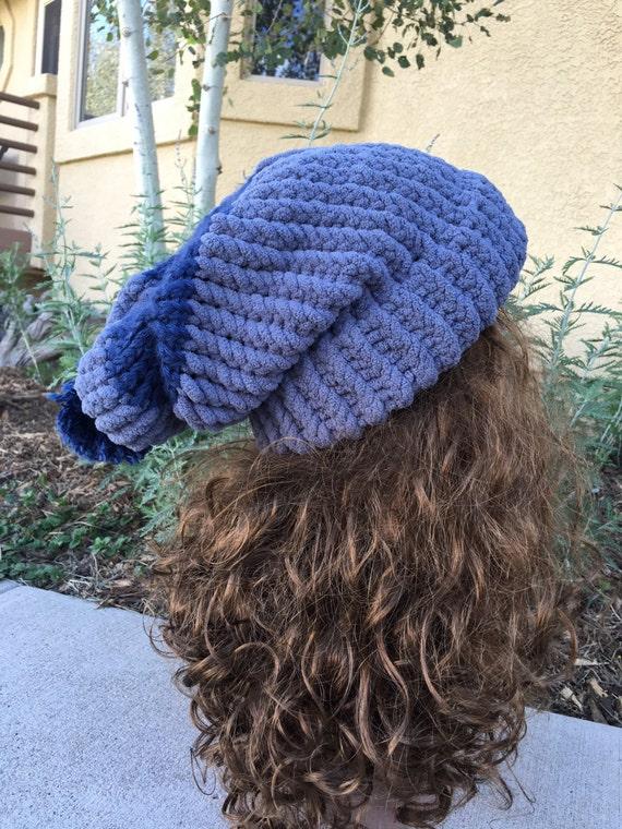 Loom Knitting Questions : Floppy fleece hat a loom knit pattern from