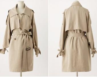 SALE!! • Khaki Trench Coat • Trench Coat Woman • Camel Trenchcoat • Tied • Khaki Coat • Double Breasted Coat • Womens Trench Coat • Peacoat