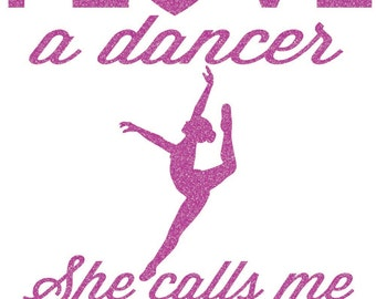 I love a Dancer Mom Iron On Decal