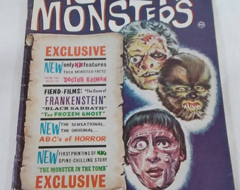 Vintage horror monsters no 10 magazine