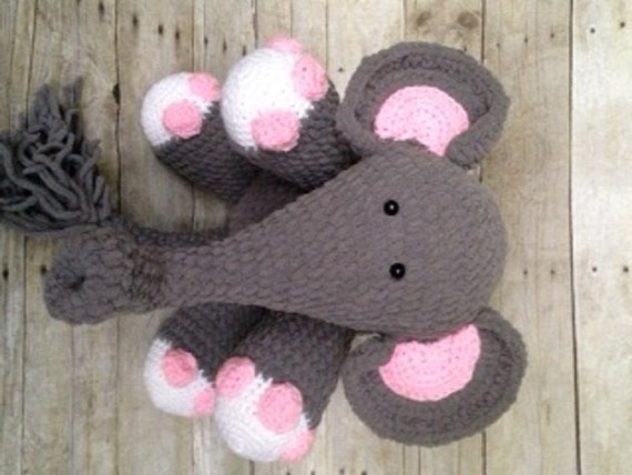 Amigurumi Elephant Blanket : Crochet Elephant Pattern/Crochet Pattern/Blanket Yarn ...