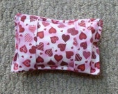 Port Softie Seatbelt Pad for Chemotherapy Patients - Red Heart Print