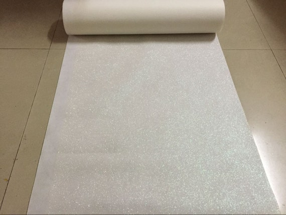White Glitter Leather Fabric For Wedding Aisle RunnerStage