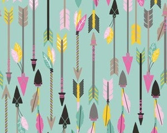 Changing Pad Cover - Quills and Arrows in Turquoise