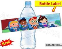 Printable Little Einsteins Water Bottle Label, Little Einsteins watter bottle labels Little Einsteins party supplies INSTANT Download