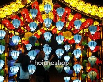 Set 8 pcs Hoi an lanterns 35cm for outdoor weddings decorations - outdoor event decorating