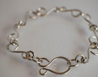 Monique (Sterling Silver Swirl Link Bracelet)