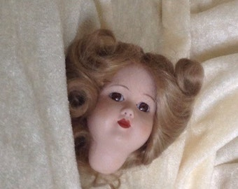Lovely Blond Doll Head Unmarked