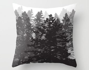 Tree Pillow Cover / Pine Trees Pillow Cover / Forest Pillow Cover / Woodland Pillow Cover / Modern Home Decor / By Aldari Home