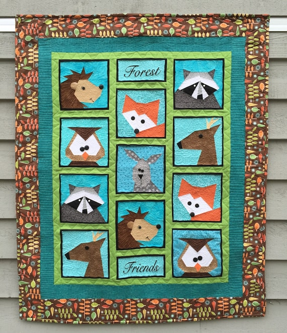Forest Friends Paper Pieced Quilt / Table Runner Pattern in