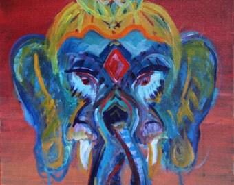 Ganesh Christian Acamo Signed Artist Print