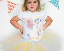 Bubble guppies, toddler birthday outfit, childrens shirts, Nickelodeon toddler girl, Bubble Guppies Clothing, Molly, Gill and puppy,