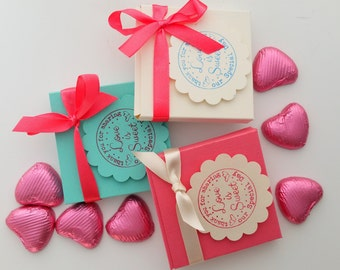 20 wedding favours, Coral mint and cream favours, party favour boxes, wedding favours, wedding decor, bridal shower, hen party favours