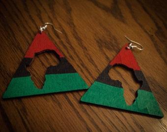 RBG Triangle Africa Earrings