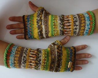 knit fingerless, fingerless gloves, arm warmers, fingerless mittens, wrist warmers, hand warmers, knit gloves, mittens, ready to ship