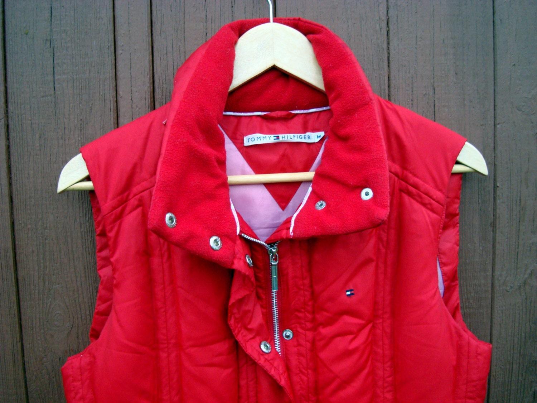 on sale 30 tommy hilfiger vintage red jacket winter puffy. Black Bedroom Furniture Sets. Home Design Ideas
