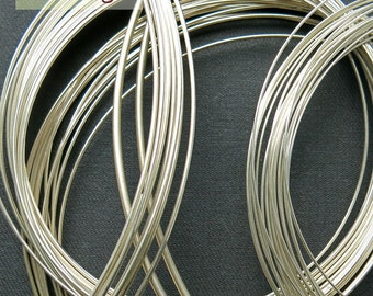 Round wire, fine silver, Ag999, 1 meter (from 1.0 to 2.0mm)