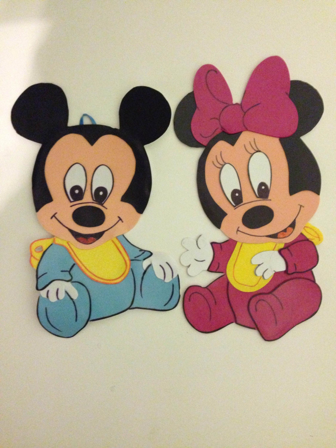 Baby mickey mouse and minnie mouse set of 2 wall decoration for Baby mickey mouse decoration