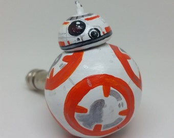 BB-8 Pipe Space Movie Droid Smoking Pipe Robot Sculpture Star Wars Force Awakens Last Jedi Pipe