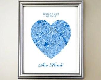 Sao Paulo Heart Map