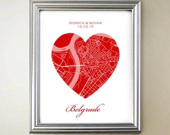 Belgrade Heart Map