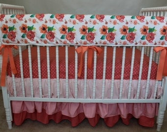 Floral Dreams Baby Bedding, floral baby bedding, floral crib sheet, floral crib skirt, floral baby blanket, floral dreams baby blanket