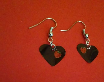 Strawberry lemonade heart shaped earrings