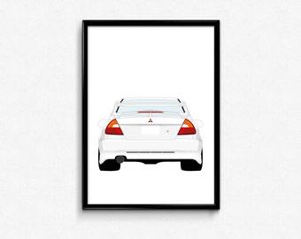 Mitsubishi Evo VI A3 Print