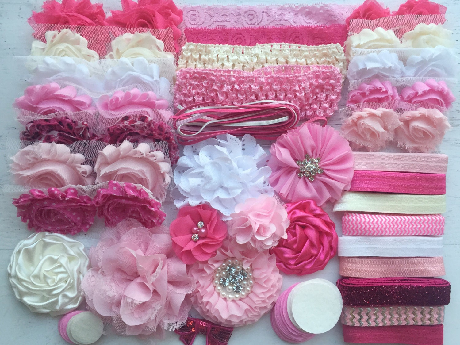 baby shower headband kit pretty in pink baby. Black Bedroom Furniture Sets. Home Design Ideas