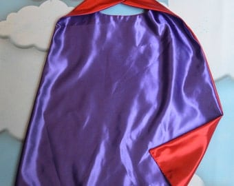 Cape. Plain Cape. Reversible Cape. Pink and Purple Cape. Kids Cape.