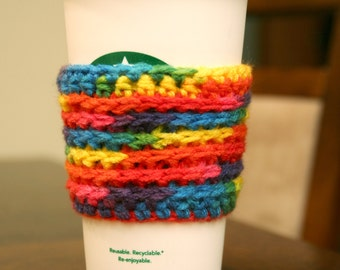 Rainbow Reusable Coffee Cozy Sleeve