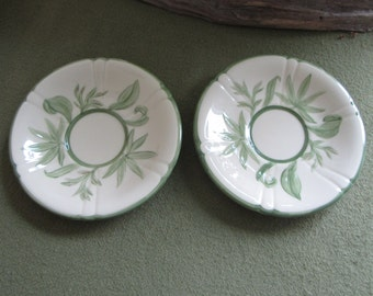Franciscan Wildflowers Two (2) Saucers 1942-1945 California Pottery Vintage Kitchens