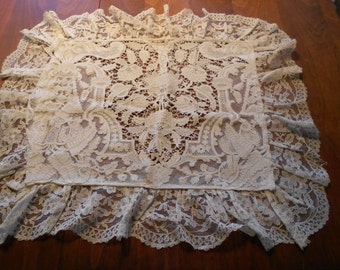 Antique Decorative Lace Pillow Case Cover