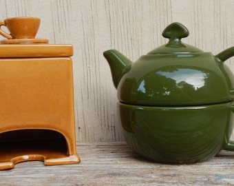 Cute Teabag Holder and Teapot Set!