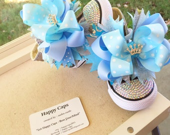 Cinderella Inspired Shoe Toppers/Bow