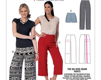 McCall's Sewing Pattern M7415 Misses' No-Side-Seam Shorts, Capris and Pants