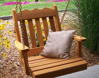 Red Cedar Royal English Swing Chair